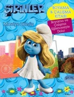 şirinler Maviye Dönüş 3d Filmin Boyama Kitabı Pierre