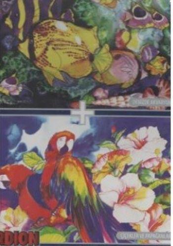 Papağanlar Çiçekler Denizde Akvaryum 1000 X 2 Puzzle