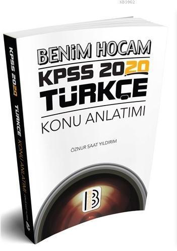 2020 KPSS Türkçe Konu Anlatımı Benim Hocam Yayınları