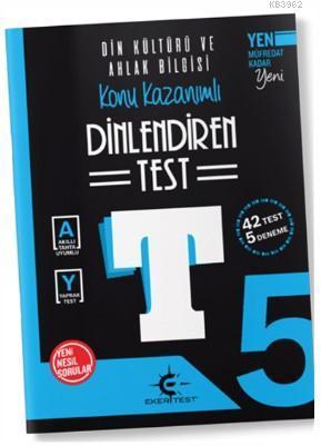 Eker Test Yayınları 5. Sınıf Din Kültürü ve Ahlak Bilgisi Dinlendiren Test Denemoji Deneme 2 Hediyeli Eker Test