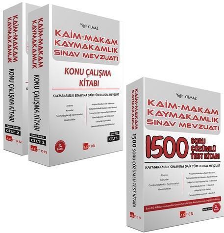 Kaim Makam Sınav Mevzuatı 1500 Çözümlü Soru Bankası - Yiğit Yılmaz 2019; Tüm Kurum Sınavları İçin