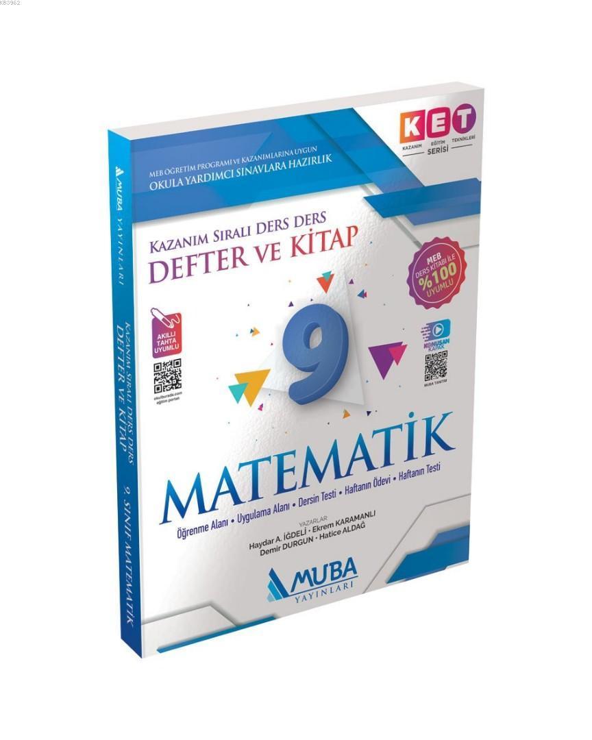 Muba Yayınları 9. Sınıf Matematik KET Serisi Defter ve Kitap Muba