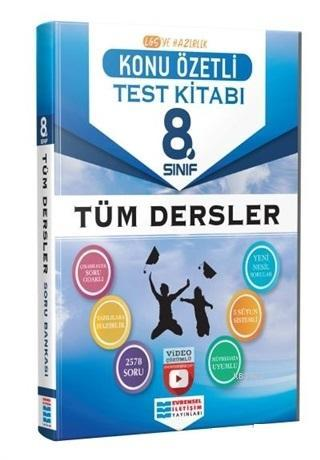 8. Sınıf Tüm Dersler Konu Özetli Video Çözümlü Test Kitabı