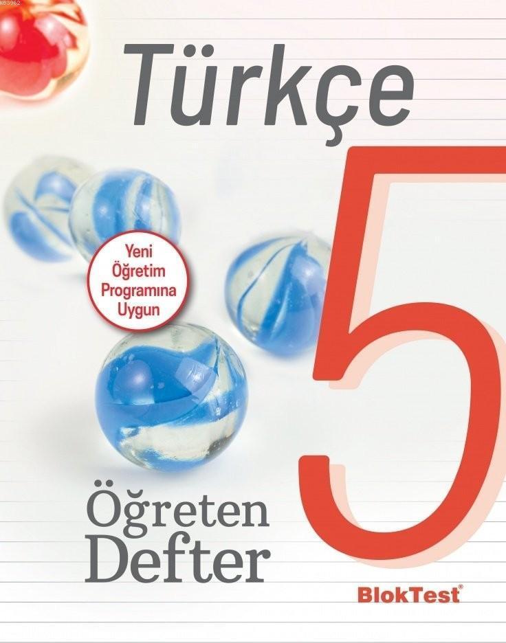 BlokTest Yayınları 5. Sınıf Türkçe Öğreten Defter BlokTest