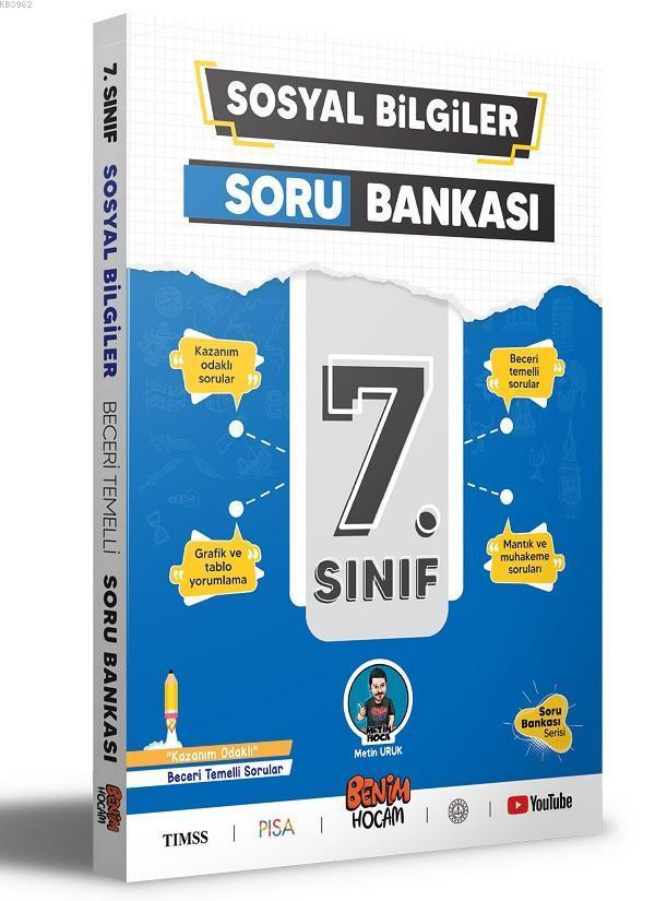 7.Sınıf Sosyal Bilgiler Soru Bankası Benim Hocam Yayınları