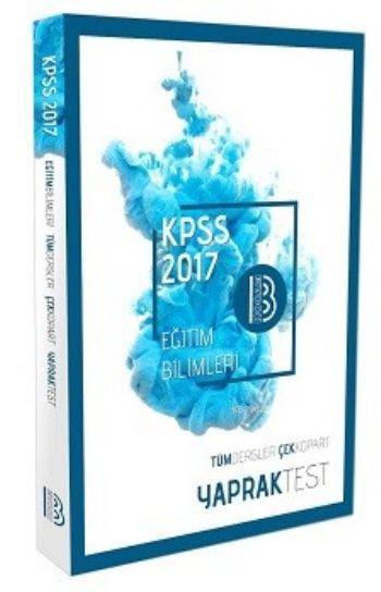 KPSS Eğitim Bilimleri Tüm Dersler Çek Kopart Yaprak Test 2017