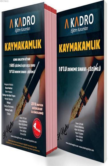 Kaymakamlık Konu Anlatım Kitabı ve 10'lu Deneme Sınavı Çözümlü (2 Cilt Takım); 2018 Anayasa Değişiklikleri ile Güncellenmiş