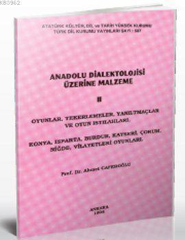 Anadolu Dialektolojisi Üzerine Malzeme 2