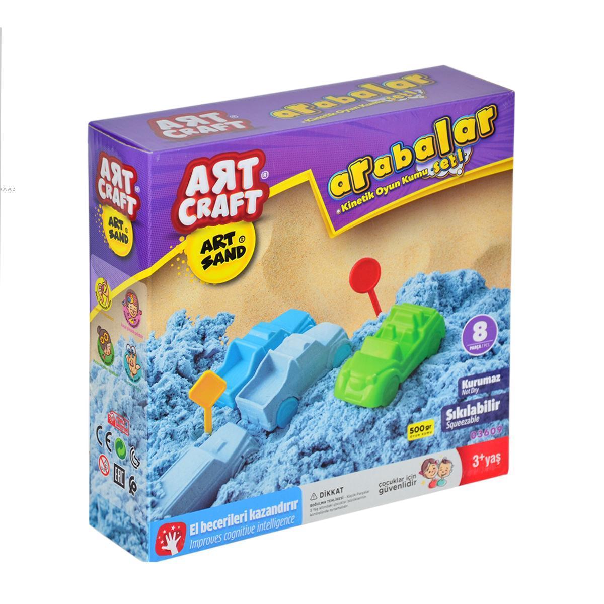Art Craft 03609 Arabalar Kum Seti 500 Gr.