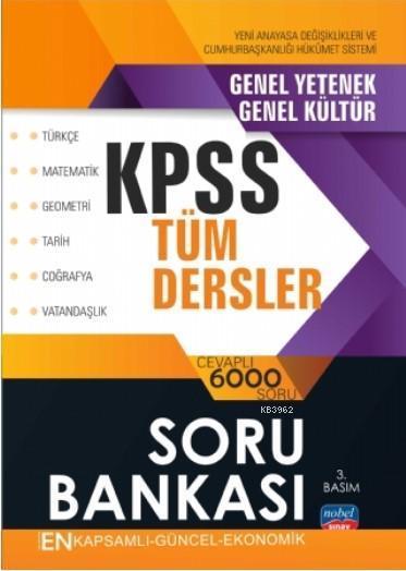 KPSS Tüm Dersler- Soru Bankası/ Türkçe - Matematik - Geometri - Tarih - Coğrafya - Vatandaşlık