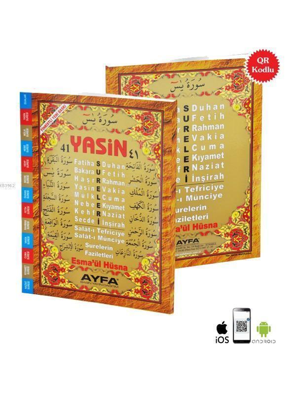 41 Yasin (Ayfa-010, Orta Boy, Fihristli, Arapça)