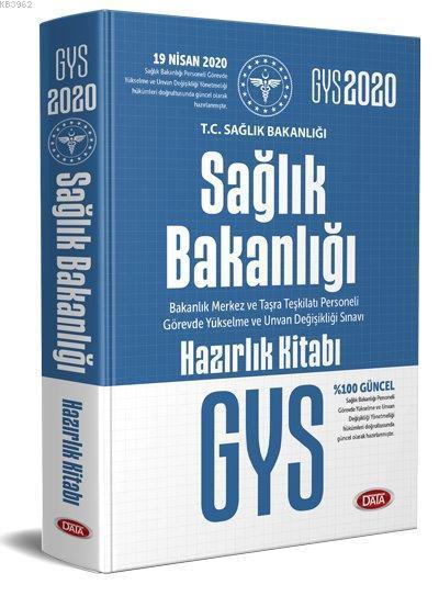 Data Yayınları 2020 GYS Sağlık Bakanlığı ve Bağlı Kuruluşları Görevde Yükselme Sınavı Hazırlık Kitab