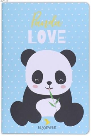 Panda Love Mavi Defter