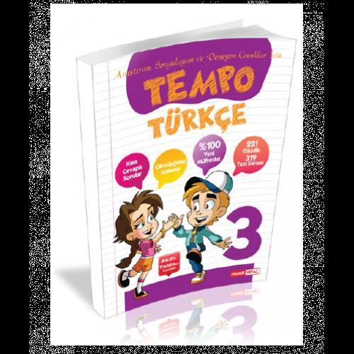 Kırmızı Beyaz Yayınları 3. Sınıf Tempo Türkçe Kırmızı Beyaz