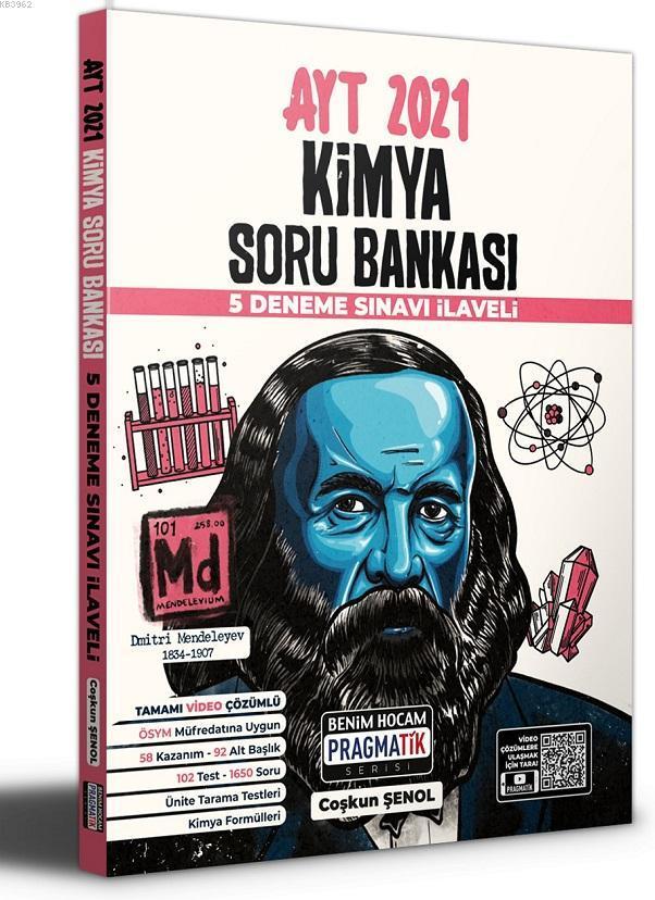 2021 AYT Kimya Soru Bankası 5 Deneme Sınavı İlaveli Pragmatik Serisi Benim Hocam Yayınları