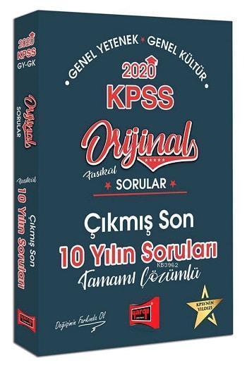 Yargı Kpss Gk-Gy Son 10 Yil Orijinal Sorular 2020