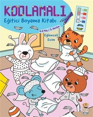 Kodlamalı Eğitici Boyama Kitabı - Eğlenceli Evim (4-5 Yaş 2. Seviye)