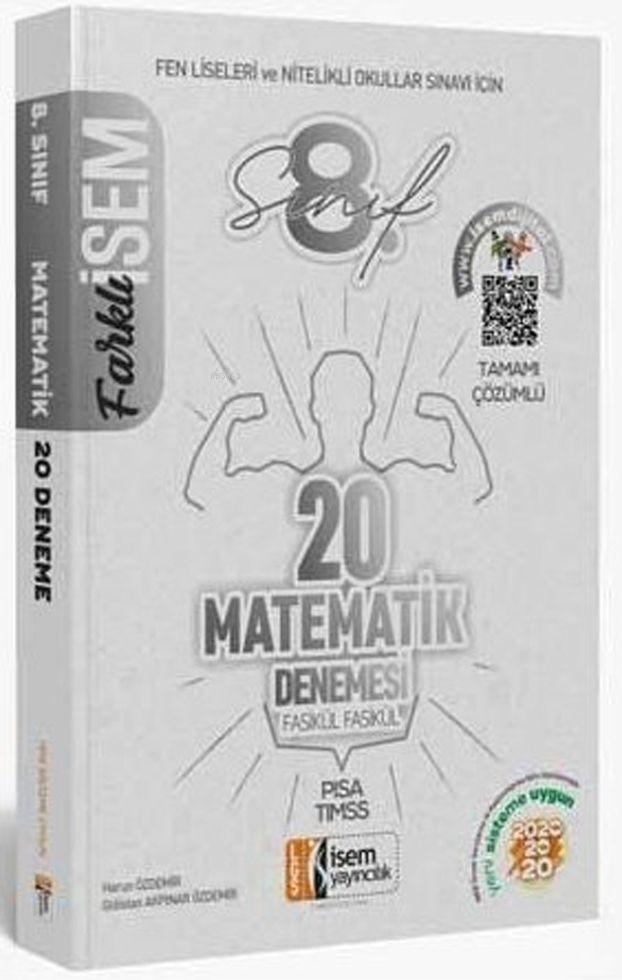 İsem Yayınları 8. Sınıf LGS Matematik 20 Deneme Sınavı İsem