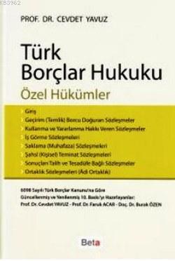 Türk Borçlar Hukuku; Özel Hükümler