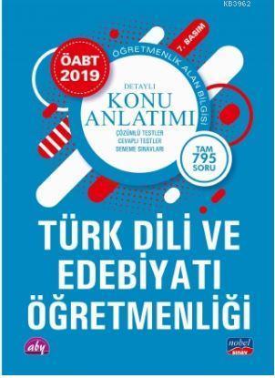 2019 ÖABT Türk Dili ve Edebiyatı - Öğretmenlik Alan Bilgisi; Detaylı Konu Anlatımı