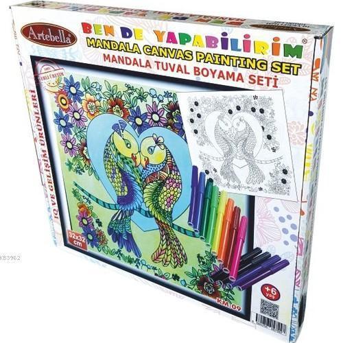 Artebella Mandala Tuval Boyama Seti 32x32 Km-09