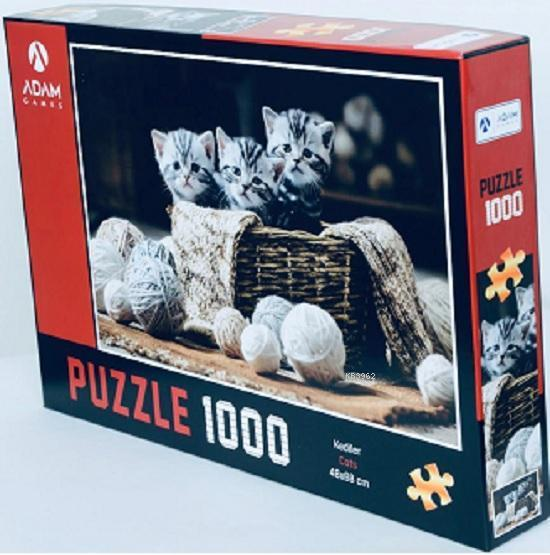 Adam Games Kediler 1000 Parça Puzzle 48x68