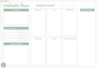 Süresiz Haftalık Planlayıcı - Minimal Desenli