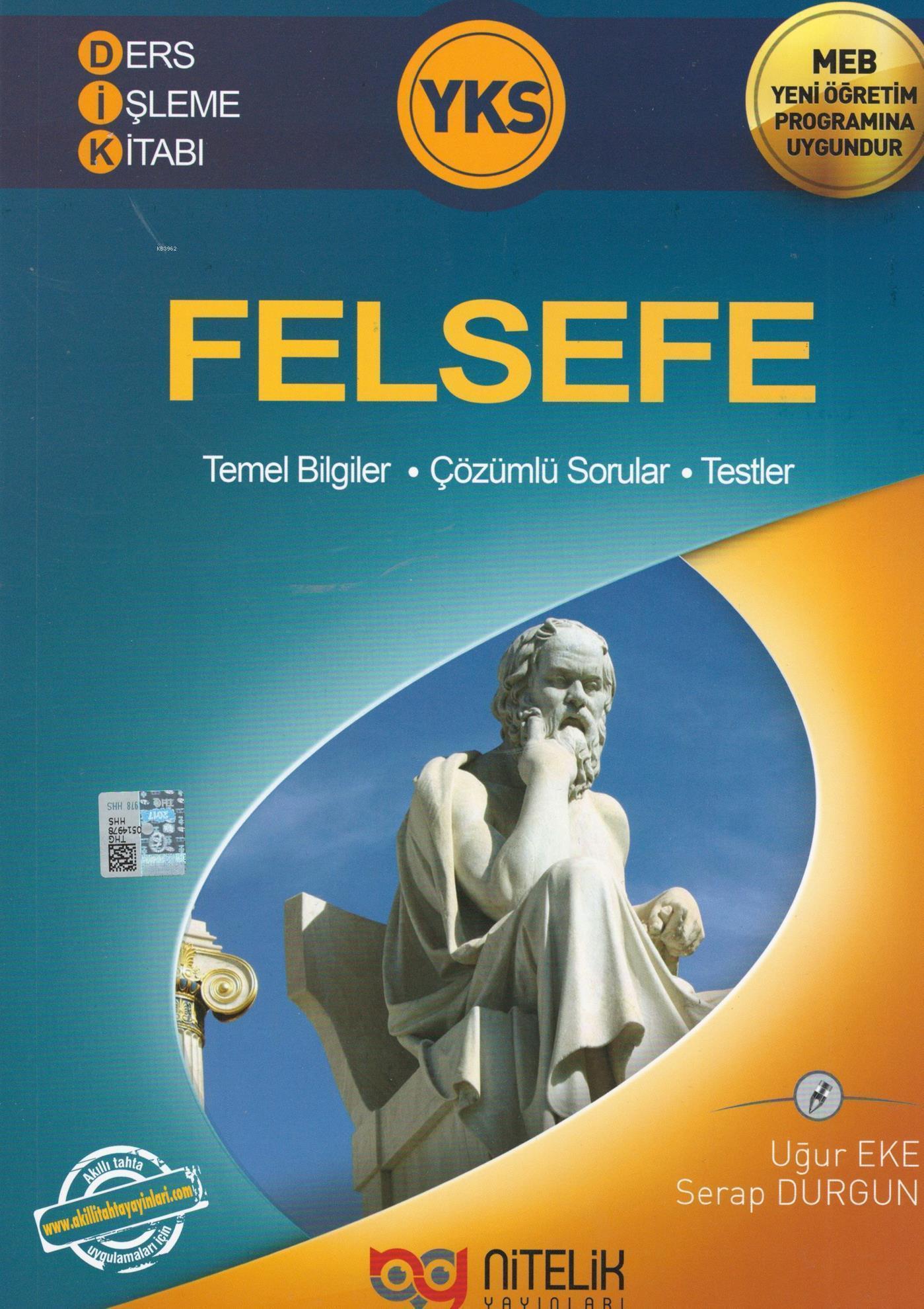 Nitelik Yayınları YKS Felsefe Ders İşleme Kitabı Nitelik
