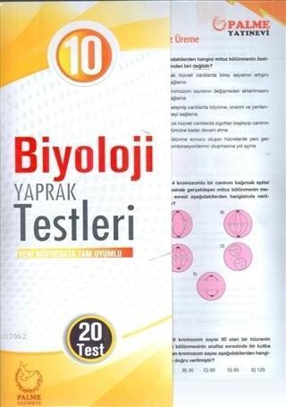 10. Sınıf Biyoloji Yaprak Testleri Yeni Müfredata Tam Uyumlu