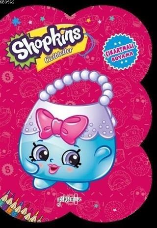 Shopkins Cicibiciler - Koyu Pembe Çıkartmalı Boyama