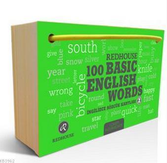 Redhouse 100 Basic English Words 2; İngilizce Sözcük Kartları