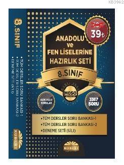 8. Sınıf Anadolu ve Fen Liselerine Hazırlık Seti; Tüm Dersler Soru Bankası 1, Tüm Dersler Soru Bankası 2, Deneme Seti (6lı)