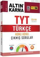 Altın Karma Yayınları TYT Türkçe Konu Konu Çıkmış Sorular Altın Karma
