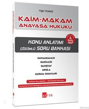 Kaim Makam Anayasa Hukuku Konu Özetli Soru Bankası; Tüm Kurum Sınavları İçin