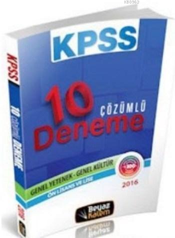 KPSS Lise Ön Lisans Çözümlü 10 Deneme 2016