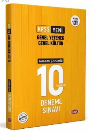 KPSS Genel Yetenek Kültür Tamamı Çözümlü 10 Deneme Sınavı