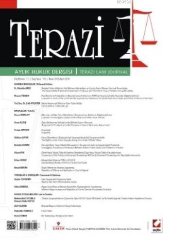 Terazi Aylık Hukuk Dergisi Sayı:116 Nisan 2016