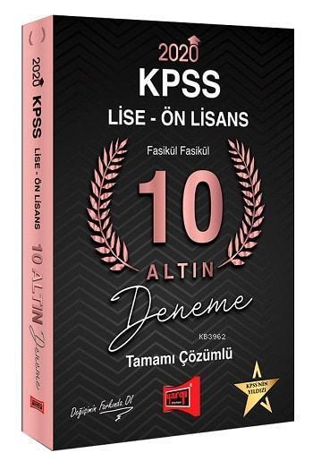 Yargı Kpss Lise-Ön Lisans 10 Altin Fasikül 2020