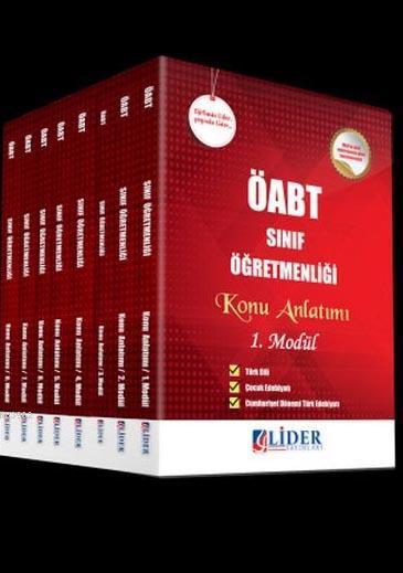 2018 ÖABT Sınıf Öğretmenliği 8'li Modüler Konu Anlatımı Set (8 Kitap)