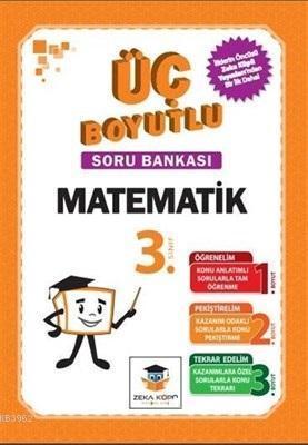 Zekaküpü - 3.Sınıf Matematik Üç Boyutlu Soru Bankası