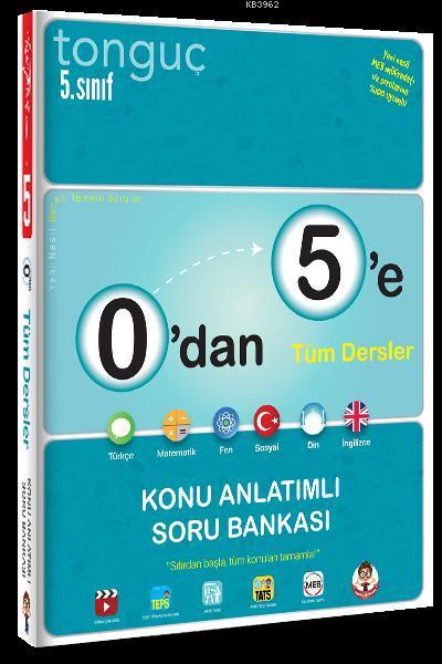 Tonguç Yayınları 5. Sınıf 0 dan 5 e Tüm Dersler Konu Anlatımlı Soru Bankası Tonguç