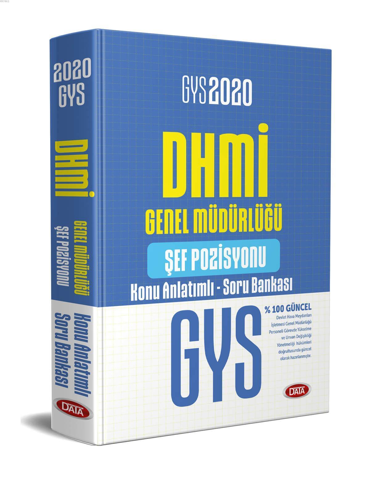 Data Yayınları 2020 GYS DHMİ Genel Müdürlüğü Şef Pozisyonu Konu Anlatımlı Soru Bankası