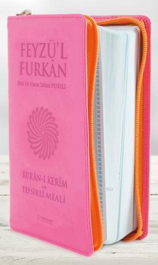 Feyzü'l Furkan Kur'an-ı Kerim ve Tefsirli Meali; (Cep Boy - Fermuarlı) PEMBE