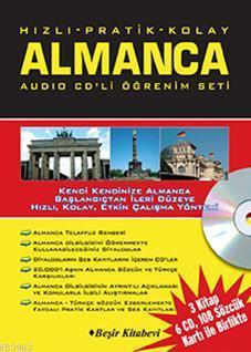 Hızlı & Pratik & Kolay Almanca Öğrenim Seti (2 Kitap, 6 Cd, 119 Sözcük Kartı)