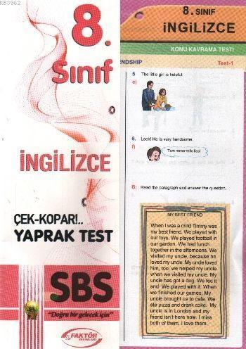 8. Sınıf İngilizce Yaprak Testler