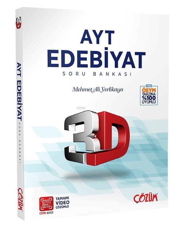 Çözüm Yayınları AYT Edebiyat Soru Bankası 3D Çözüm