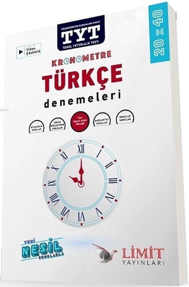 Limit Yayınları TYT Kronometre Türkçe 20x40 Deneme