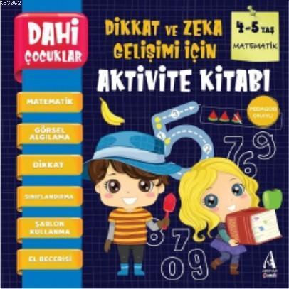 Dahi Çocuklar Aktivite Kitabı 4-5 Yaş - Matematik