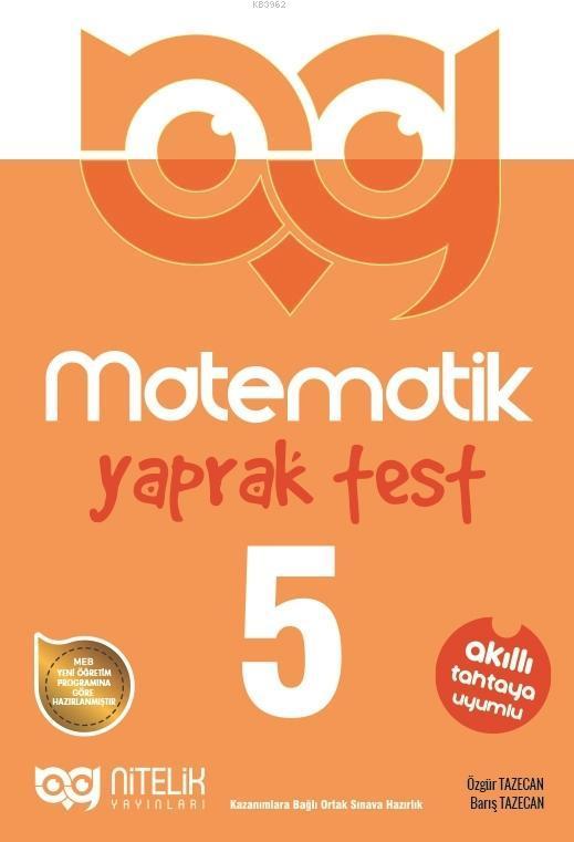 Nitelik - 5. Sınıf Matematik Yaprak Test Yeni