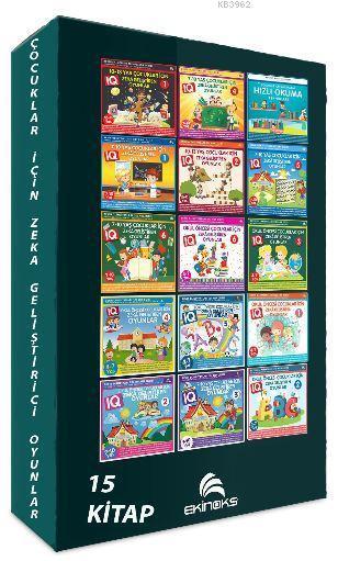 Çocuklar İçin IQ Geliştirici Zeka Oyunları Seti (15 Kitap Set)